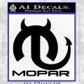 Mopar Devil V3 Decal Sticker Black Vinyl Logo Emblem 120x120