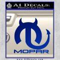 Mopar Devil V3 Decal Sticker Blue Vinyl 120x120
