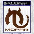 Mopar Devil V3 Decal Sticker Brown Vinyl 120x120