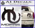 Mopar Devil V3 Decal Sticker Carbon Fiber Black 120x97