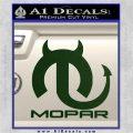 Mopar Devil V3 Decal Sticker Dark Green Vinyl 120x120