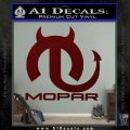 Mopar Devil V3 Decal Sticker Dark Red Vinyl 120x120