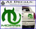 Mopar Devil V3 Decal Sticker Green Vinyl 120x97