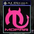 Mopar Devil V3 Decal Sticker Hot Pink Vinyl 120x120