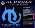 Mopar Devil V3 Decal Sticker Light Blue Vinyl 120x97