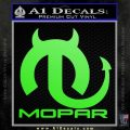 Mopar Devil V3 Decal Sticker Lime Green Vinyl 120x120