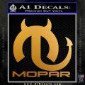 Mopar Devil V3 Decal Sticker Metallic Gold Vinyl 120x120