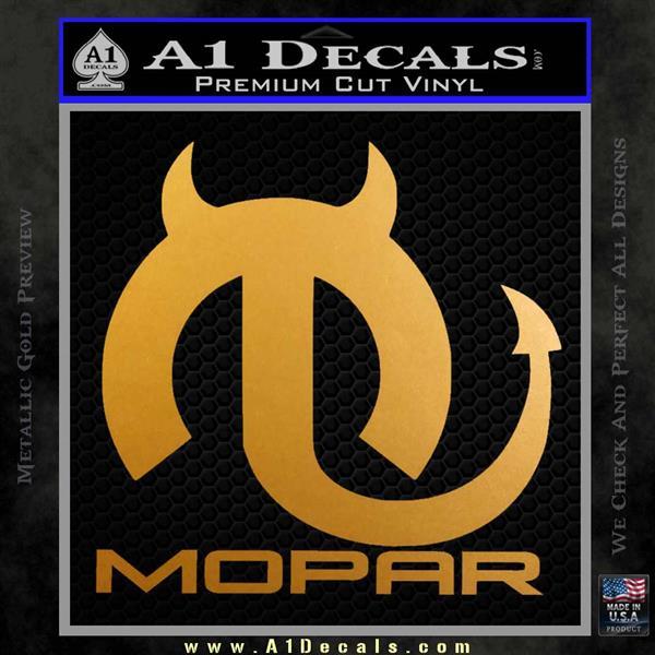 Mopar Devil V3 Decal Sticker Metallic Gold Vinyl