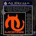 Mopar Devil V3 Decal Sticker Orange Vinyl Emblem 120x120