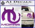 Mopar Devil V3 Decal Sticker Purple Vinyl 120x97