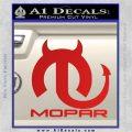 Mopar Devil V3 Decal Sticker Red Vinyl 120x120