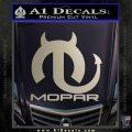 Mopar Devil V3 Decal Sticker Silver Vinyl 120x120