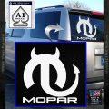 Mopar Devil V3 Decal Sticker White Vinyl Emblem 120x120