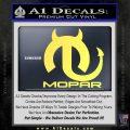 Mopar Devil V3 Decal Sticker Yellow Vinyl 120x120