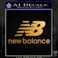 New Balance Logo Decal Sticker Metallic Gold Vinyl 120x120