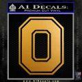 Ohio State University logo Decal Sticker Metallic Gold Vinyl 120x120