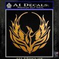 Phoenix CR1 Decal Sticker Metallic Gold Vinyl 120x120