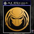 Predator CRF Decal Sticker Metallic Gold Vinyl 120x120
