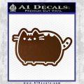 Pusheen Decal Sticker Cat Kitty Cute Normal D2 Brown Vinyl 120x120