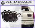 Pusheen Decal Sticker Cat Kitty Cute Normal D2 Carbon Fiber Black 120x97