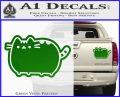Pusheen Decal Sticker Cat Kitty Cute Normal D2 Green Vinyl 120x97