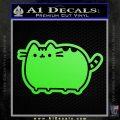 Pusheen Decal Sticker Cat Kitty Cute Normal D2 Lime Green Vinyl 120x120