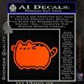 Pusheen Decal Sticker Cat Kitty Cute Normal D2 Orange Vinyl Emblem 120x120