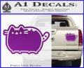 Pusheen Decal Sticker Cat Kitty Cute Normal D2 Purple Vinyl 120x97