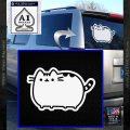 Pusheen Decal Sticker Cat Kitty Cute Normal D2 White Vinyl Emblem 120x120