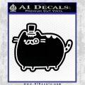 Pusheen Decal Sticker Cat Kitty Fancy Pants D2 Black Vinyl Logo Emblem 120x120