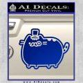 Pusheen Decal Sticker Cat Kitty Fancy Pants D2 Blue Vinyl 120x120