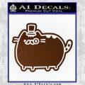 Pusheen Decal Sticker Cat Kitty Fancy Pants D2 Brown Vinyl 120x120