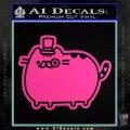 Pusheen Decal Sticker Cat Kitty Fancy Pants D2 Hot Pink Vinyl 120x120