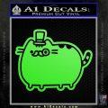 Pusheen Decal Sticker Cat Kitty Fancy Pants D2 Lime Green Vinyl 120x120
