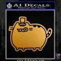 Pusheen Decal Sticker Cat Kitty Fancy Pants D2 Metallic Gold Vinyl 120x120
