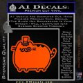 Pusheen Decal Sticker Cat Kitty Fancy Pants D2 Orange Vinyl Emblem 120x120