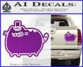 Pusheen Decal Sticker Cat Kitty Fancy Pants D2 Purple Vinyl 120x97