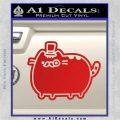 Pusheen Decal Sticker Cat Kitty Fancy Pants D2 Red Vinyl 120x120