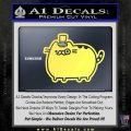 Pusheen Decal Sticker Cat Kitty Fancy Pants D2 Yellow Vinyl 120x120
