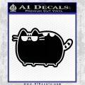 Pusheen Decal Sticker Cat Kitty Sunglasses Walk D2 Black Vinyl Logo Emblem 120x120