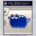 Pusheen Decal Sticker Cat Kitty Sunglasses Walk D2 Blue Vinyl 120x120