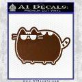 Pusheen Decal Sticker Cat Kitty Sunglasses Walk D2 Brown Vinyl 120x120