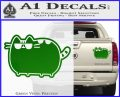 Pusheen Decal Sticker Cat Kitty Sunglasses Walk D2 Green Vinyl 120x97