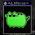 Pusheen Decal Sticker Cat Kitty Sunglasses Walk D2 Lime Green Vinyl 120x120