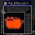 Pusheen Decal Sticker Cat Kitty Sunglasses Walk D2 Orange Vinyl Emblem 120x120