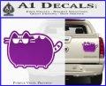 Pusheen Decal Sticker Cat Kitty Sunglasses Walk D2 Purple Vinyl 120x97