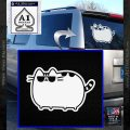 Pusheen Decal Sticker Cat Kitty Sunglasses Walk D2 White Vinyl Emblem 120x120