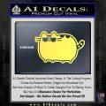 Pusheen Decal Sticker Cat Kitty Sunglasses Walk D2 Yellow Vinyl 120x120