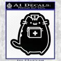 Pusheen Doctor Nurse D2 Decal Sticker Black Vinyl Logo Emblem 120x120