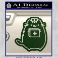 Pusheen Doctor Nurse D2 Decal Sticker Dark Green Vinyl 120x120